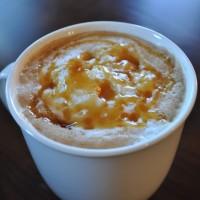 Creme brulee or caramel brulee latte
