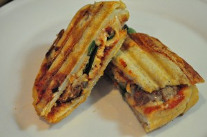 Meatball, Spinach & Red Onion Panini