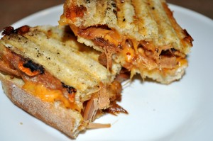 Pulled Pork Tenderloin Panini with Cheddar
