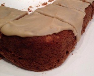 harvest apple cake with penuche icing